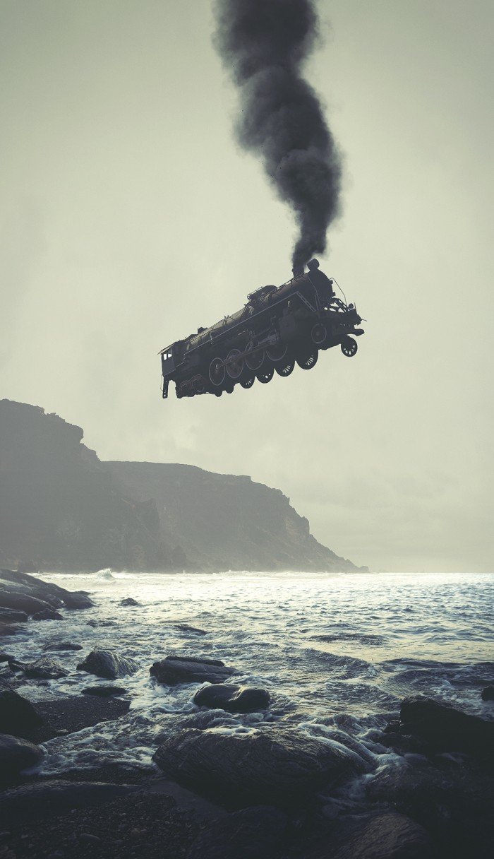 cliffrail 700x1216 Flying Steam Train