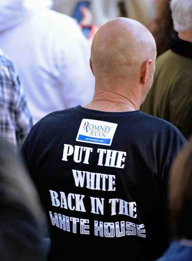 white house Pro Romney T Shirt T shirt Sad :( romney Racist Politics