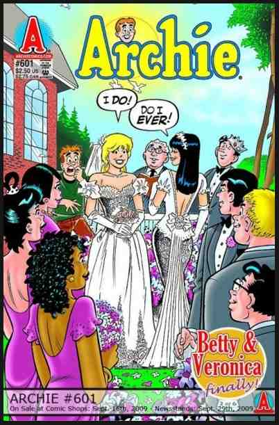 Betty and Veronica Betty and Veronica wedding lesbian gay archie comics
