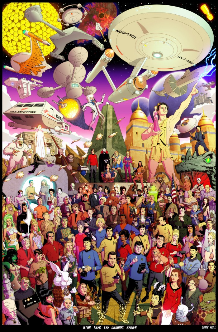 star trek the original series by dusty abell d5ihg4k 700x1064 A gift for the TOS fans TOS science fiction Art