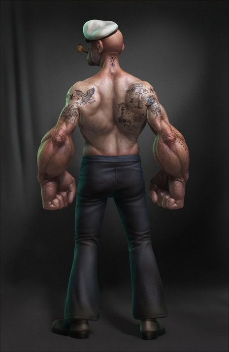Popeye2 Gritty Popeye   Coming to Theatres in 2015 popeye nostalgia 3D render