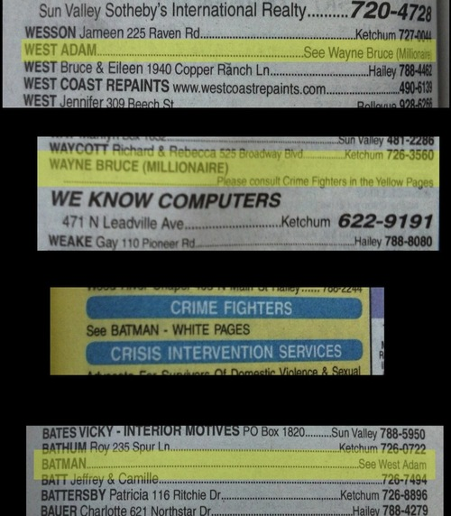 ire1rxvu2y Looking up Adam West in the phone book Television