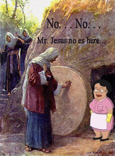 Jesus No Es Here Get your own Lemon Pledge Religious Jesus Family Guy Consuela Bill Nye