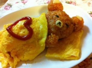 bear omelette Weird Food Food cute Cthulhu