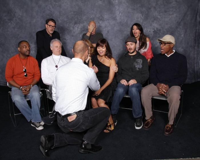 TNG reunion proposal1 700x560 TNG reunion proposal wedding star trek proposal next generation marriage fandom Celebrities