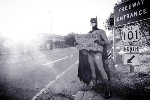 Bat Hitch Hiker lol batman