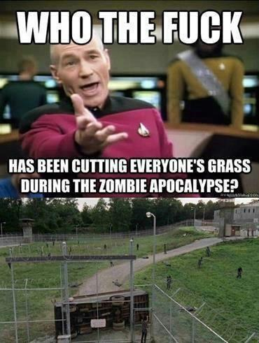 Zombie Grass The Grass walking dead Picard Lawn Care