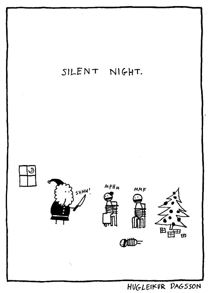 iC4O8 Silent Night killer santa Dark Humor Christmas cartoons