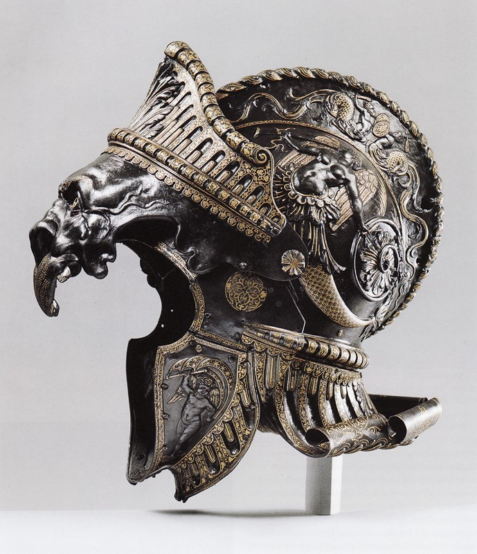 Burgonet 1550 Ornate helmets Weapons Military Metal medieval Art armor