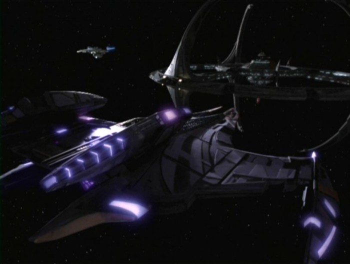 JemHadar battle cruiser aft 700x528 Jem Hadar battlecruiser Television starship star trek spaceship scifi Military DS9 dominion