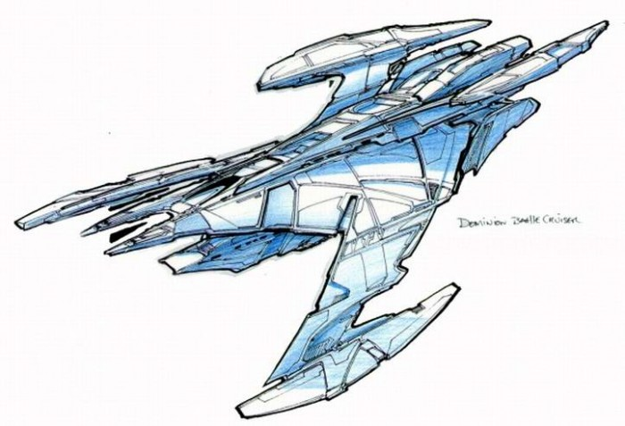 JemHadar battle cruiser design 700x477 Jem Hadar battlecruiser Television starship star trek spaceship scifi Military DS9 dominion