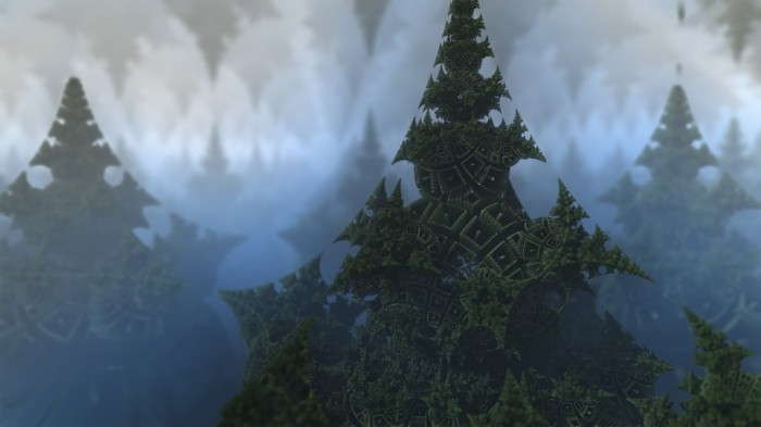 trees by krzysztofmarczak d5c1kqb 700x393 Mandelscapes render math mandlebrot interesting fractals cgi Art