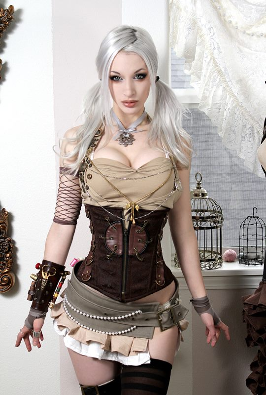 tumblr mbvgfiigjP1rakp4xo1 1280 Steampunk doll women steampunk Sexy gears fashion corset