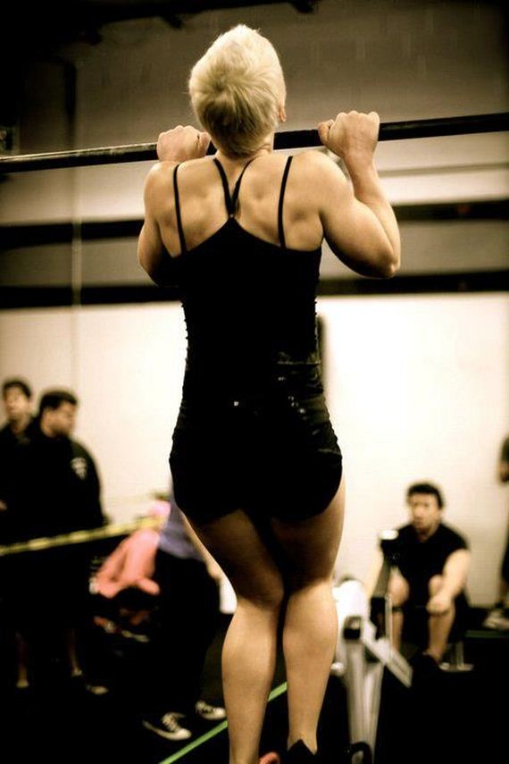 09 Samantha Wright women weightlifting Sexy cute