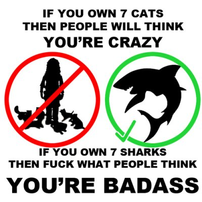 7 sharks Pet ownership reactions sharks pets Cats
