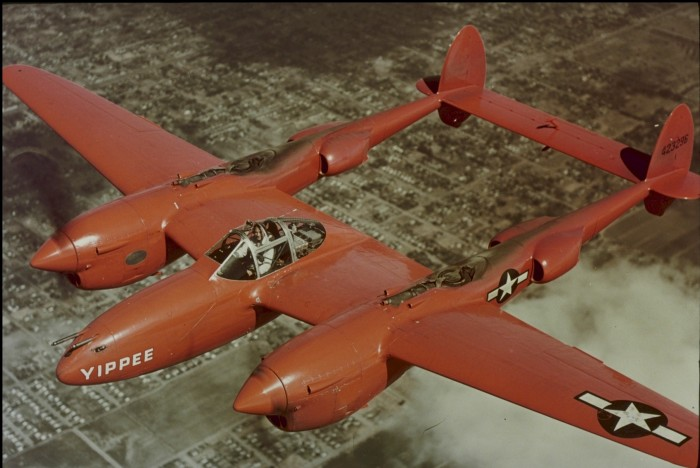 red lightning 700x468 Red Lightning yippee WWII Weapons P 38 fighters aircraft