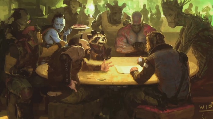 marvel guardians 700x393 Guardians of the Galaxy movie concept Art