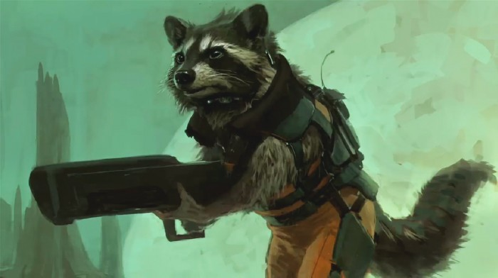 marvel rocket rac 700x392 Guardians of the Galaxy movie concept Art