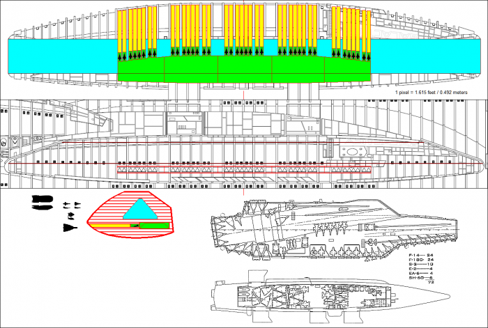 BigPod 700x471 Battlestar flight pod vs. Aircraft Carrier Weapons Television spaceships ship scifi Military interesting bsg aircraft