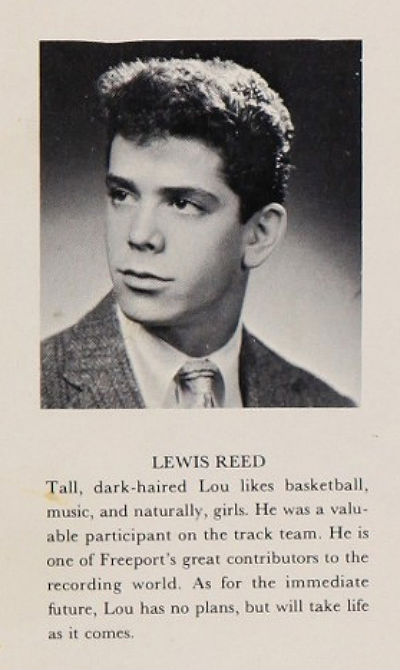 Lou Reed HS Yearbook 1sdfsdfsdf Lou Reed high school yearbook Music Books