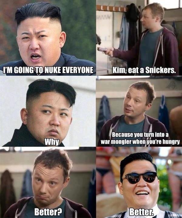 Un snickers GREAT LEADER EATS A SNICKERS Politics North Korea Meme korea kim jong un Humor gungam candy