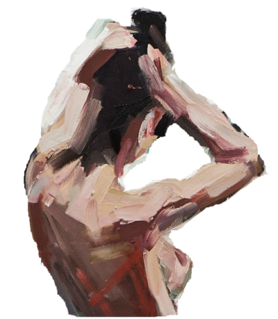 painterly Painterly women transparency sideboob png painting Art