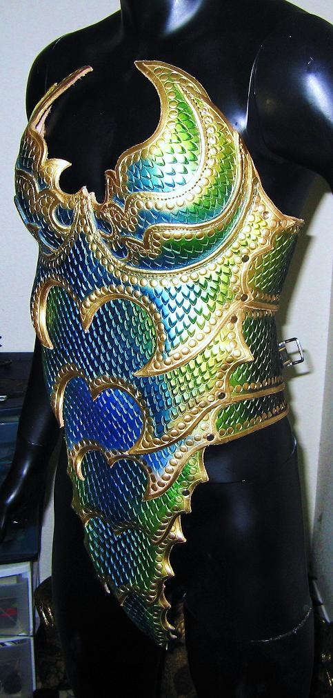 Female Dragon Armored Corset 2 by Azmal Dragon armor women fantasy dragons cosplay armor