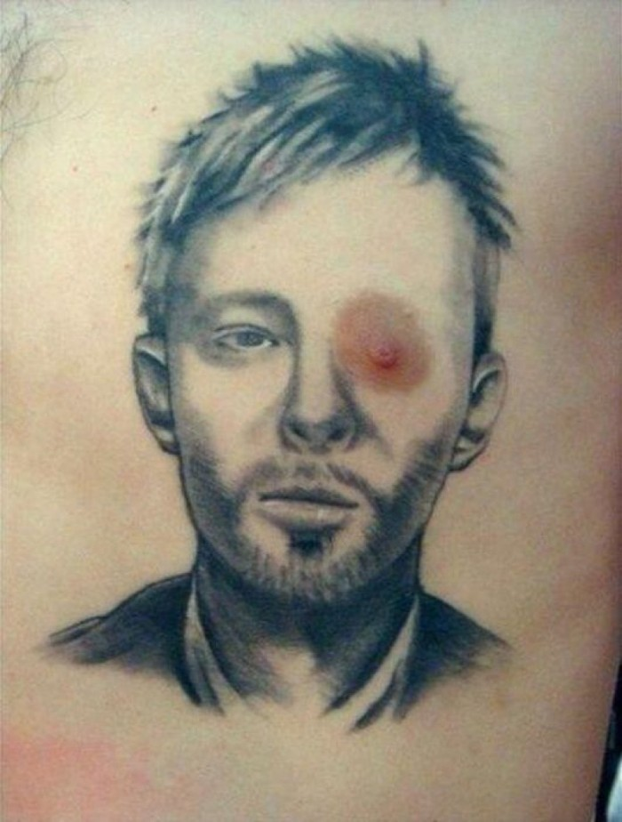 heres the most upsetting radiohead tattoo ever 700x924 Little babies eyes eyes eyes eyes Tattoos Music