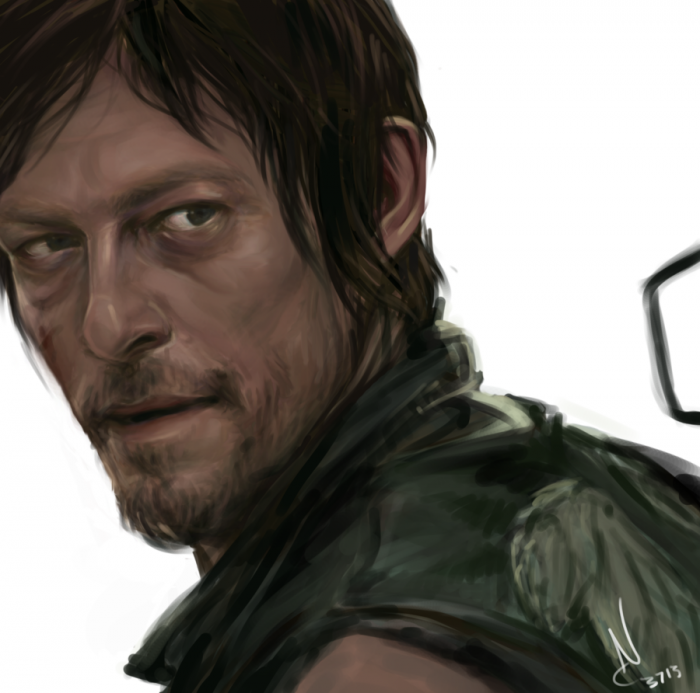 P08Desn 700x693 The Walking Dead Portraits The walking dead Rick Portraits Merle daryl Art