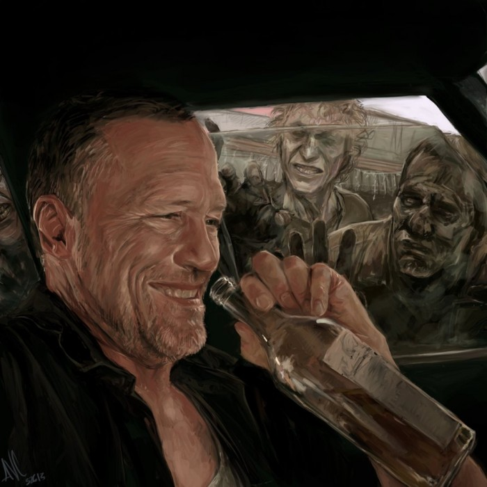 lfEeKmW 700x700 The Walking Dead Portraits The walking dead Rick Portraits Merle daryl Art