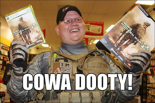 cowadooty Cowa dooty wtf Meme Gaming gamers forever alone cosplay call of duty