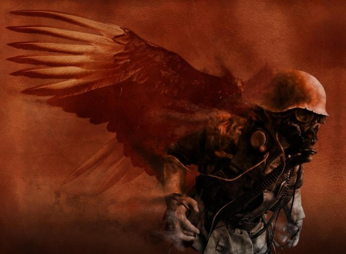 samothrace 700x513 Plague angel scary Photoshop illustration dark Art apocalyptic