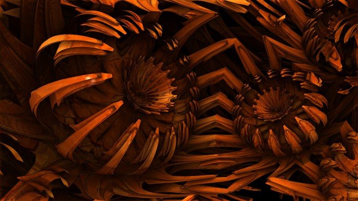 walnut wood blooms by grahamsym d5dzusd 700x393 Fractal wallpapers 5 wallpapers renders illustration fractals cgi Art