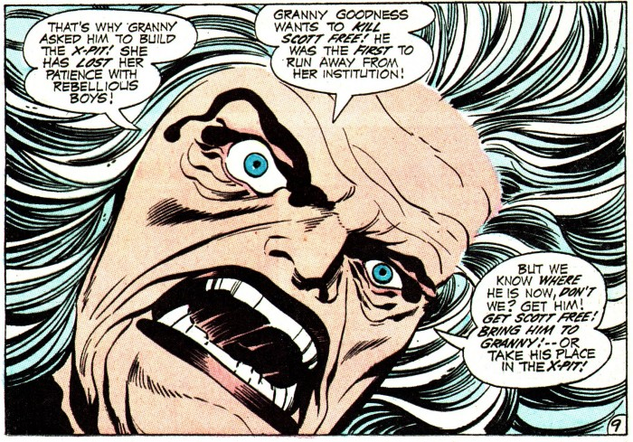 GrannyGoodnessMM2pg9 sml J 700x489 Jack Kirby 2 wallpapers scott free medusa king of comics granny goodness demon Comic Books black racer