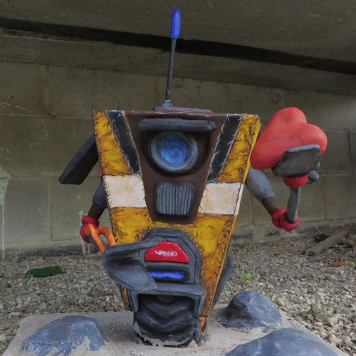 CL4P TP Sculpture for Charity Gaming charity borderlands