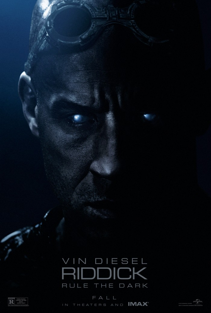 Riddick one sheet 700x1037 Riddick riddick posters Movies movie poster