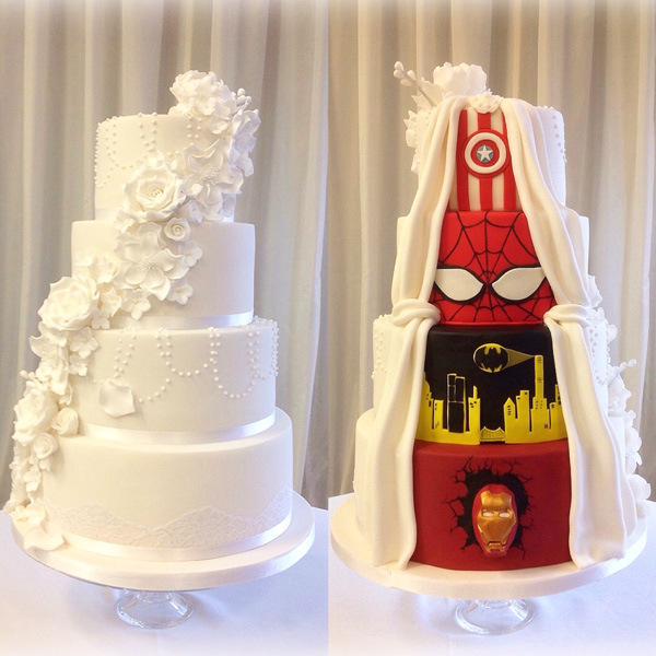 Superhero wedding cake Superhero Wedding Cake