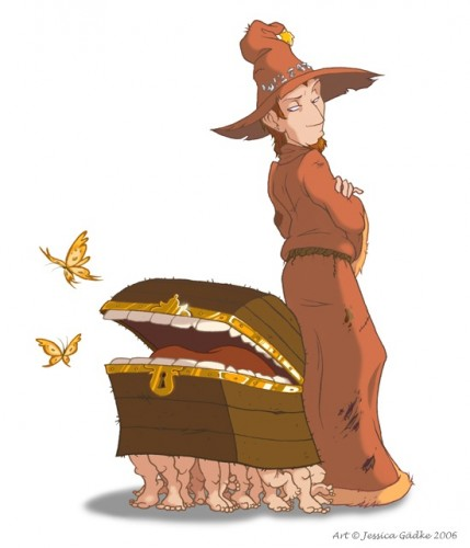 RincewindWithTheLuggage 429x500 Rincewind and Luggage