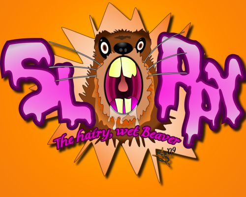 Soppy logo wallpaper 1280x1024 500x400 Sloppy, The hairy, wet Beaver.