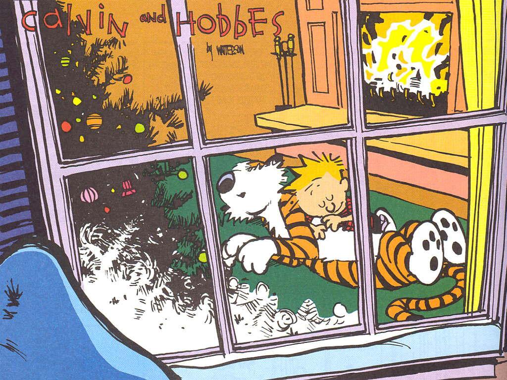 Calvin And Hobbes Christmas Wallpaper Myconfinedspace