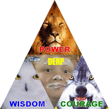 derp Power... wisdom... courage... DERP!