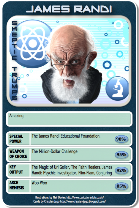 card 028 James Randi 468x700 Skeptic Trumps   II Humor CCG