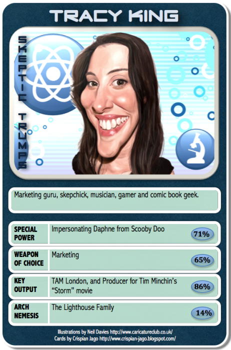 card 030 Tracy King 462x700 Skeptic Trumps   III Science! Humor CCG