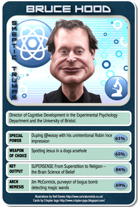 card 024 Bruce Hood 468x700 Skeptic Trumps   IV Science! CCG