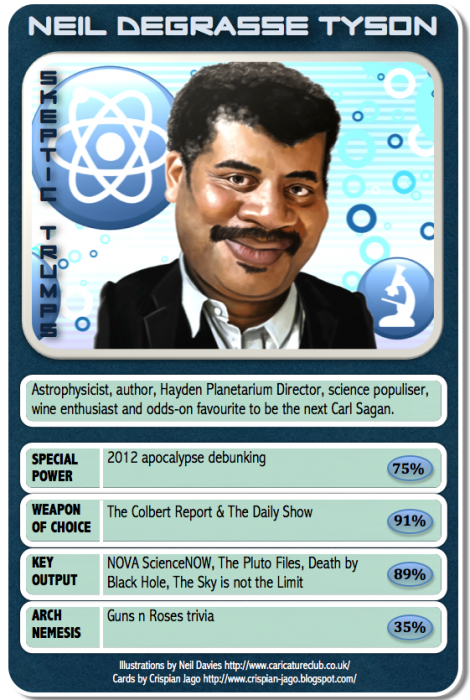 card 069 Neil deGrasse Tyson 470x700 Skeptic Trumps   Neil deGrasse Tyson Science! CCG