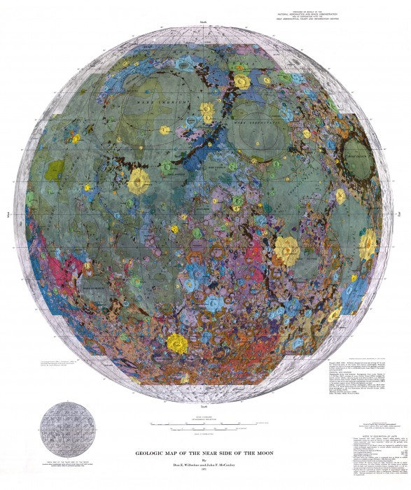 moon 587x700 Geologic map of the near side of the Moon maps