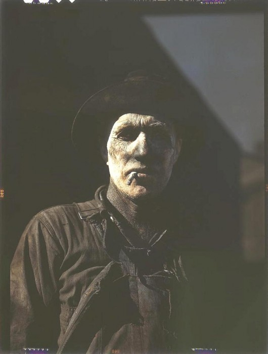 Worker at carbon black plant. Sunray, Texas, 1942. 530x700 America circa 1939 1943