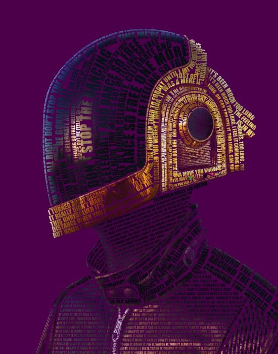 large daft punk graphjam 550x700 Daft Punk Music Art