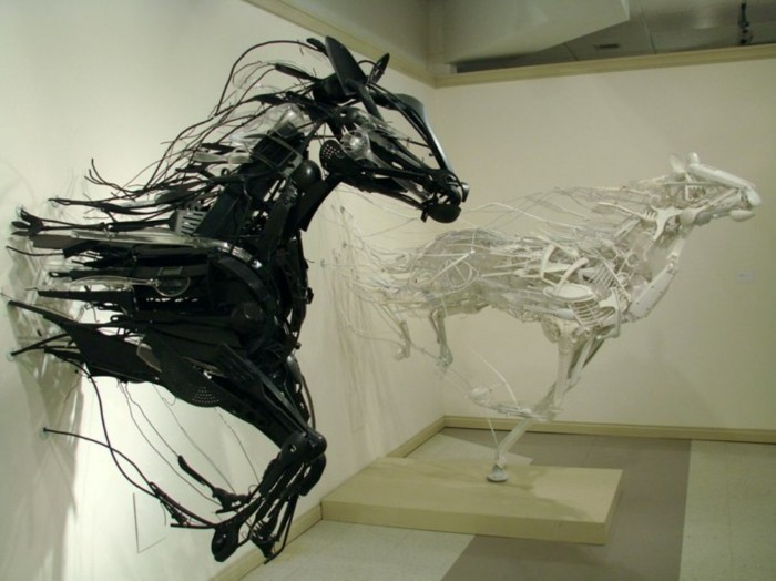 horses wall 700x524 Black and White Art