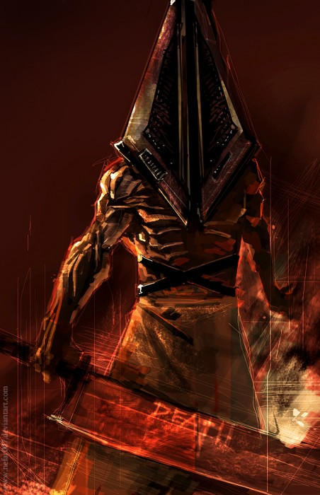 pyramid head by nefar007 452x700 Silent Hill   Pyramid Head Wallpaper Gaming